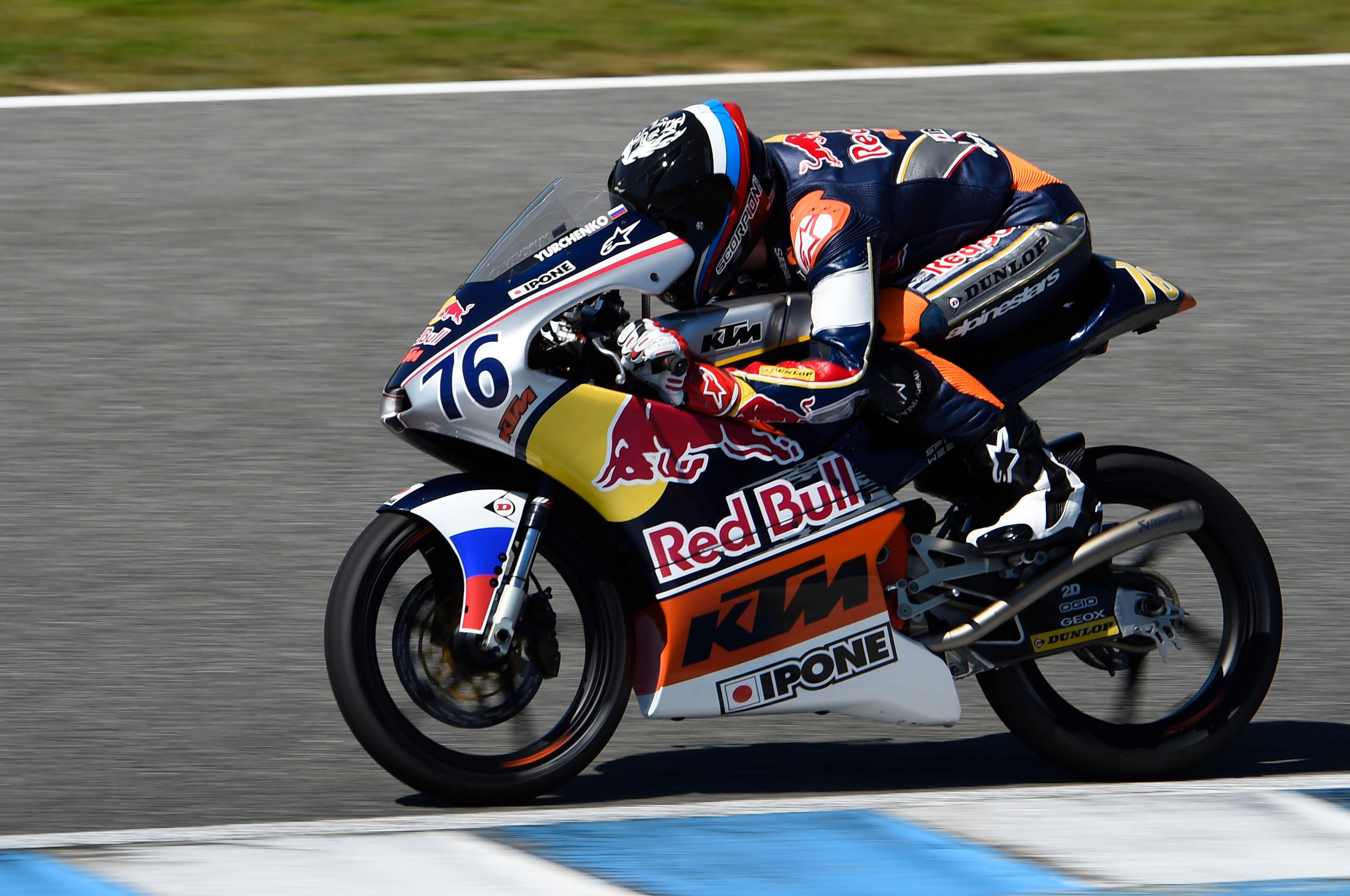 Makar Yurchenko Russia Red Bull MotoGP Rookies Cup 2015 16