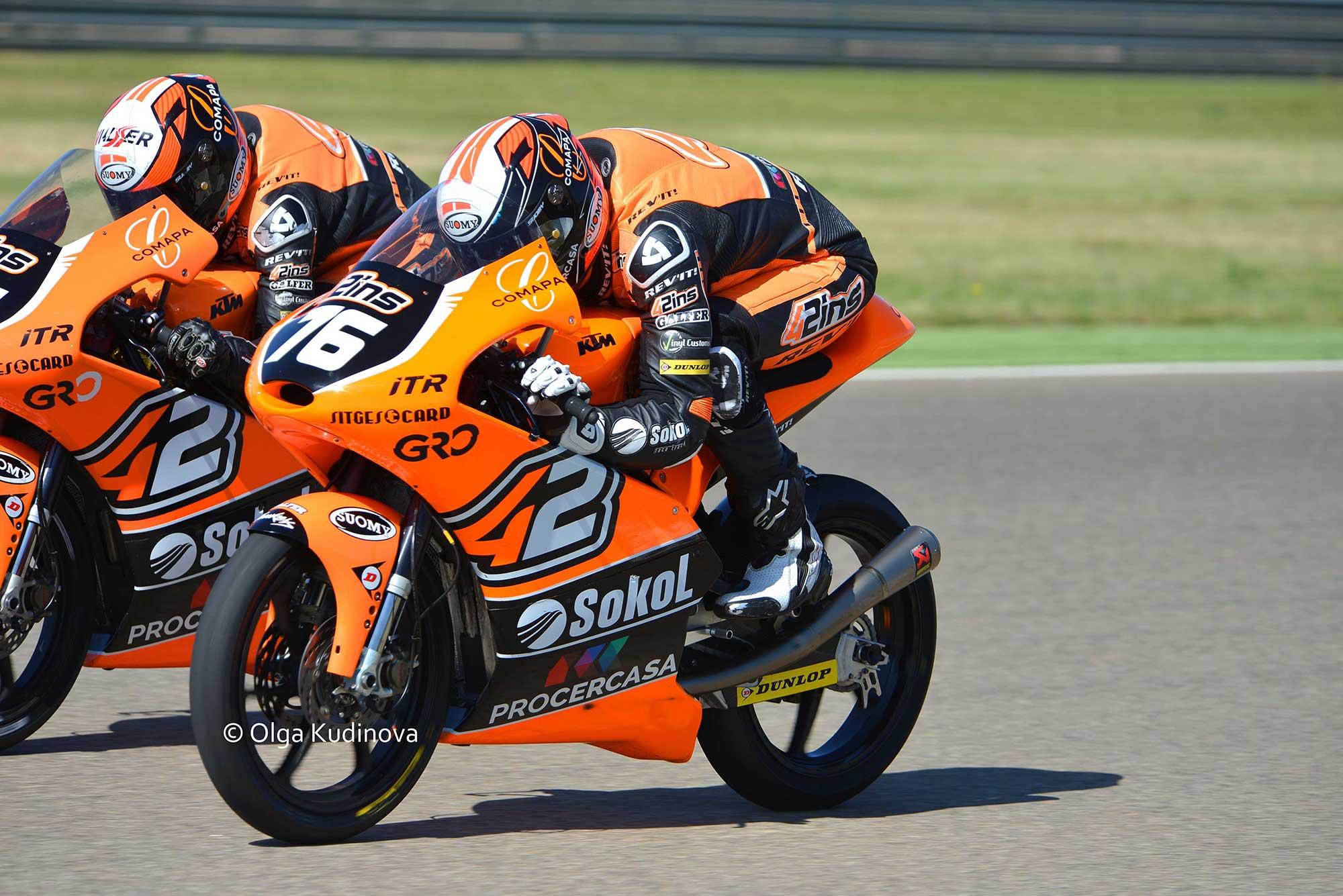 FIM Junior Moto3 rider Makar Yurchenko