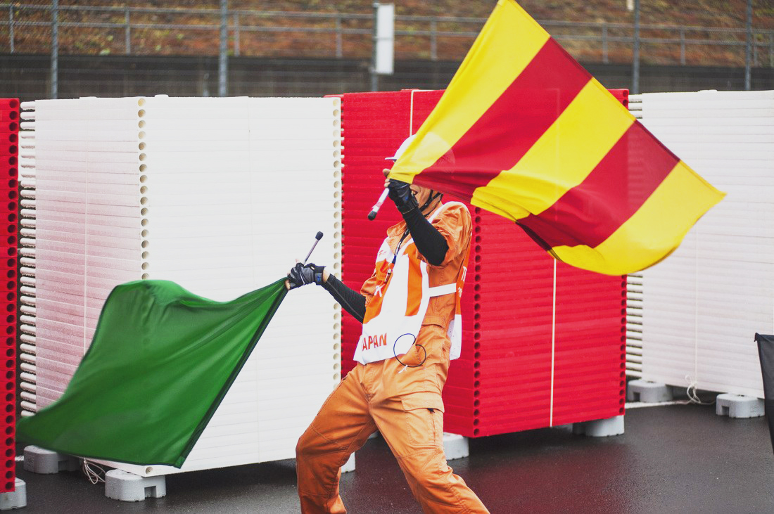 MotoGp flags marshals