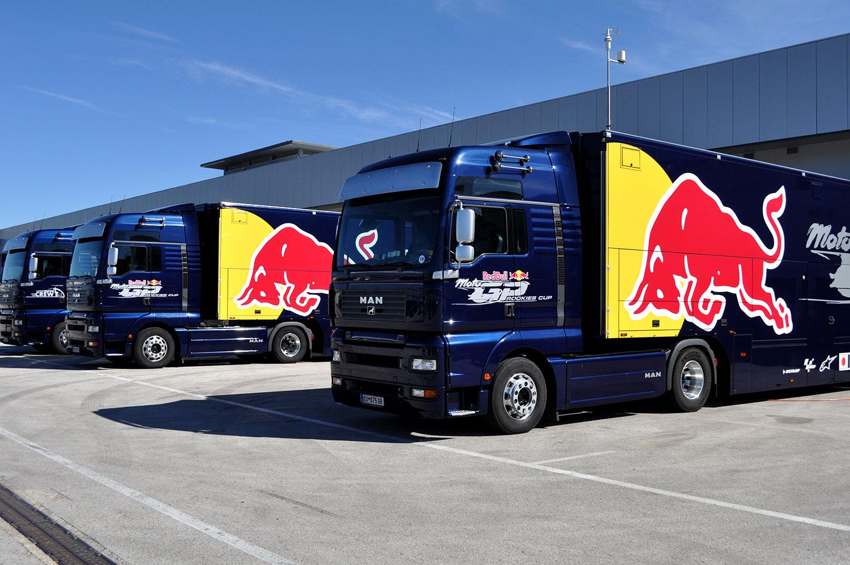 Red Bull Rookies Cup MotoGp trucks