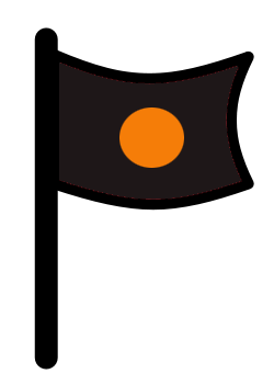 black-orange-flag