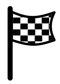 Checkered flag motogp