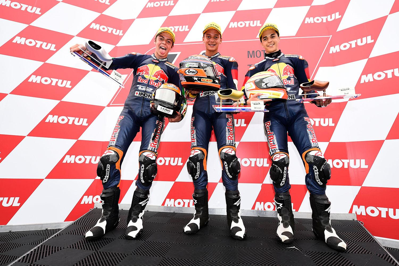 Podium Red Bull MotoGP Rookies Cup